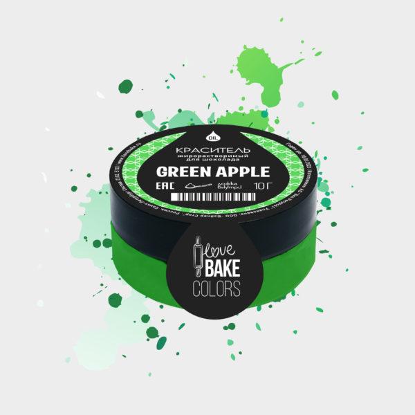 Жирорастворимый краситель для шоколада Зеленое яблоко, I Love Bake, 10 г