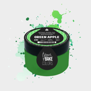 Жирорастворимый краситель для шоколада Зеленое яблоко, I Love Bake, 30 г