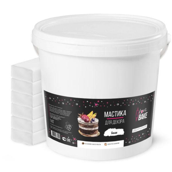 Мастика белая I Love Bake 6 кг
