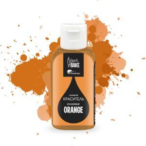 Краситель гелевый Оранжевый 30 г, I Love Bake