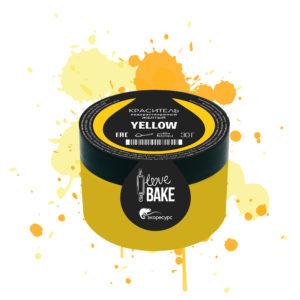 Водорастворимый краситель Желтый, I Love Bake, 30 г